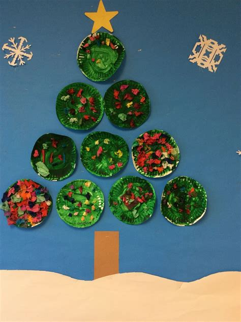 paper christmas tree bulletin board 17 best images about activities and on tissue paper easels and children