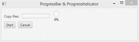 javafx layout percentage javafx progressbar and progressindicator tutorial