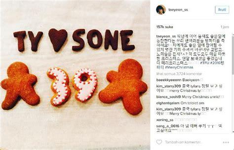 emoji ngupil unyu banget tae yeon ucapkan selamat natal lewat cookies