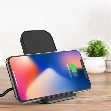 bakeey qi wireless fast charging charger stand dock station for iphone x 8 8plus alexnld