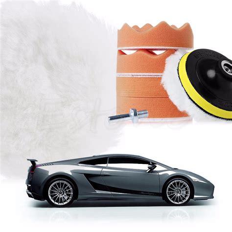 pulir con taladro kit 7 piezas esponjas borla para pulir auto con taladro
