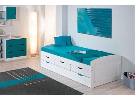 lit avec tiroire lit gaspard avec tiroirs xcm blanc