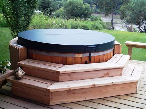 hot tubs cedar wood hot tub propane or natural gas seats 8 ebay