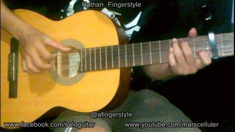 tutorial fingerstyle mudah lenka trouble is a friend nathan fingerstyle cover