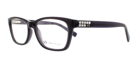 armani exchange eyeglasses ax3006 8005 black transparent