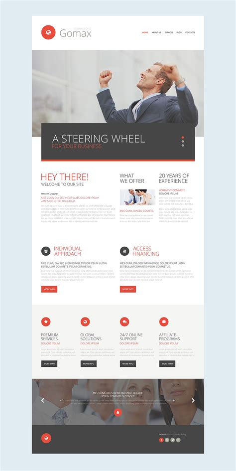 responsive templates for business website business responsive website template 52536