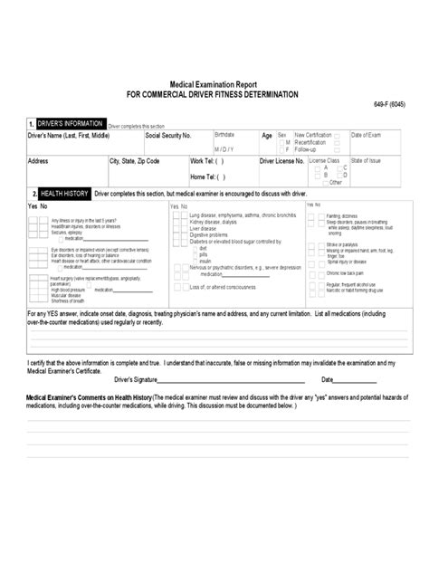 Examination Report Template Cdl Form 2 Free Templates In Pdf Word Excel