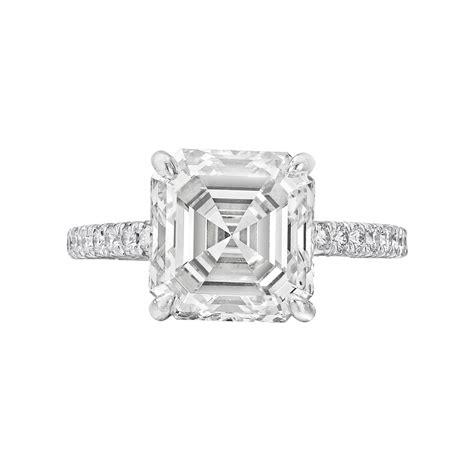 asscher cut engagement rings wedding rings sets