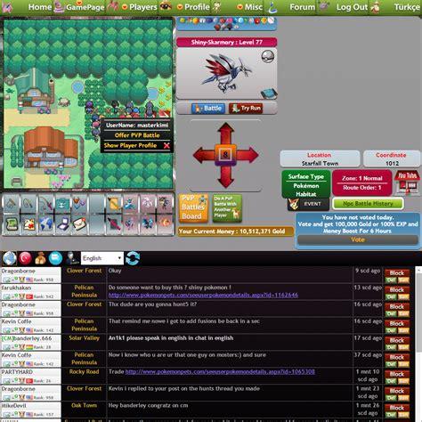 pokemon fan games online fan made online pok 233 mon mmo rpg game pokemonpets just