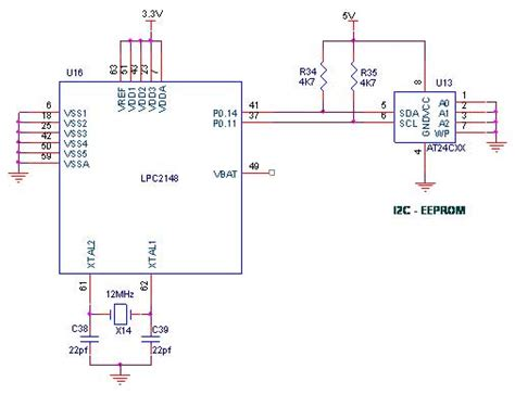 eeprom circuit diagram how to interface i2c eeprom with lpc2148 arm7 advanced