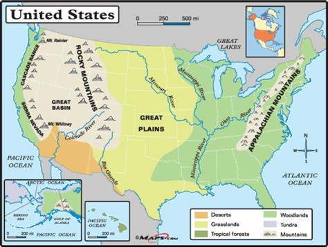 physical map of america geography physical map of the united states of america