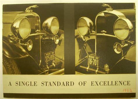 Excellence 8515lb Black Original 1932 lincoln standard of excellence original sales leaflet sedan berlin