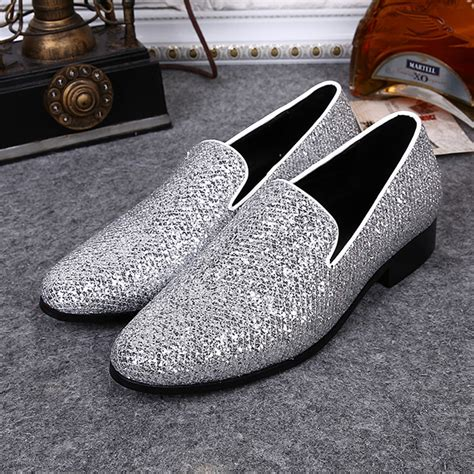 Schuhe Silber Hochzeit by Kaufen Gro 223 Handel Silber Flache Hochzeitsschuhe Aus