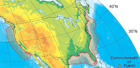 Us Continental Shelf by Virginia And The Outer Continental Shelf