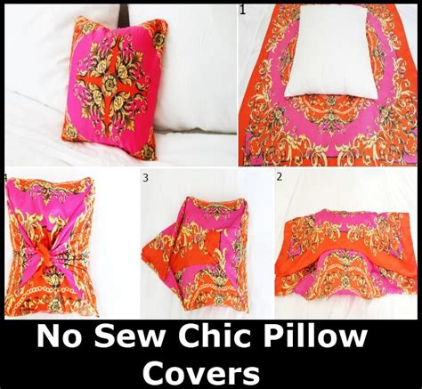 Diy Pillow Covers No Sew by No Sew Chic Pillow Covers Diy Home Things
