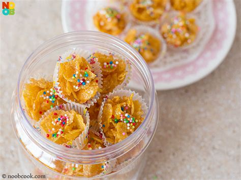 new year cornflake cookies recipe honey cornflakes cups recipe noobcook