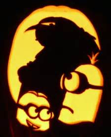 minion pumpkin carving template i carved this on a real pumpkin last year and it has been