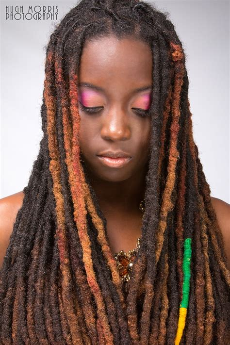 pictures of hair locks with thick hair thick locs with highlights hair styles pinterest