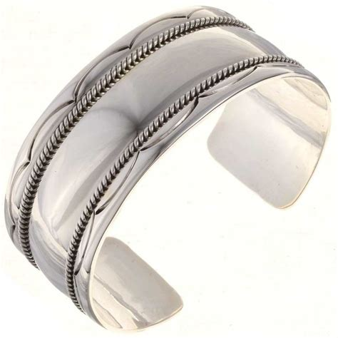 Navajo Silver Mens Cuff Big Boy Tribal Bracelet   eBay
