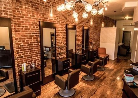 Hair Dresser Nyc by Idalias Salon Ny Wood Trim Exposed Brick And Accent Walls