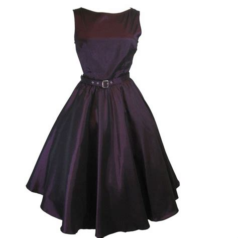 purple swing dress plus size 50 s vintge style purple satin swing dress