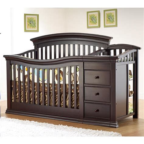 La Ideal Cribs by Sorelle Verona 4 In 1 Convertible Crib Changer