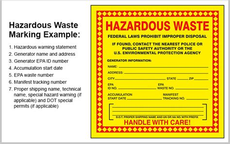 Hazardous Waste Labeling And Marking Quick Tips 322 Grainger Industrial Supply Free Hazardous Waste Label Template