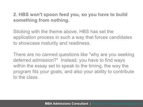Deferred Admissions Mba by Three Strategies Deferred Admission At Hbs