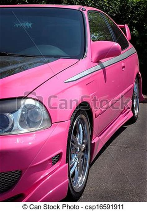 stock photography of pink car custom pink paint on hotrod csp16591911 search