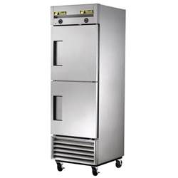 small glass door freezer true t 23dt one section dual temperature reach in