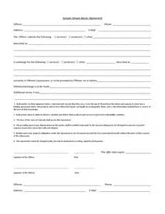 Barter Contract Template by Sle Simple Barter Agreement Free