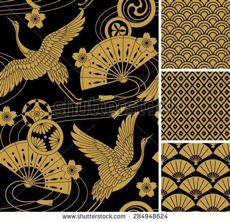 traditional japanese pattern vector japanese pattern set seamless vector ornaments with