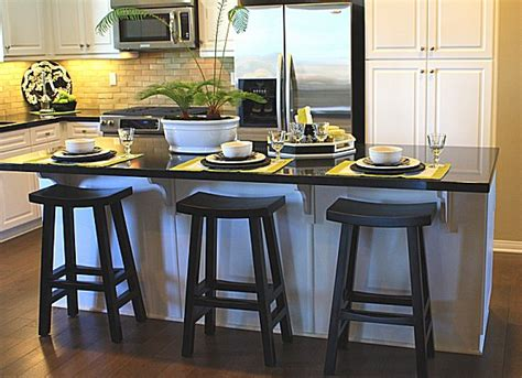 the kitchen island with stools simple but effective tables iecobfo