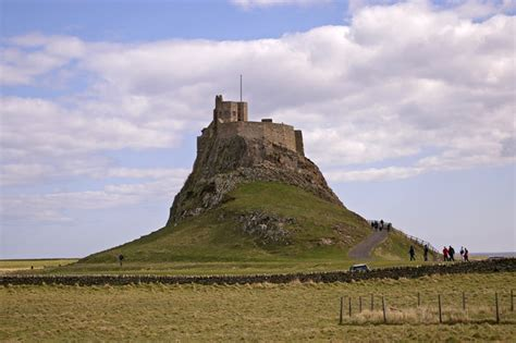 Viewing History Lindisfarne by File Lindisfarne Castle Holy Island Northumberland