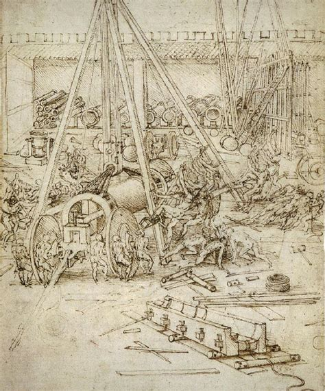 Leonardo Da Vinci Biography Encyclopedia | an artillery park jpg leonardo da vinci wikiart org