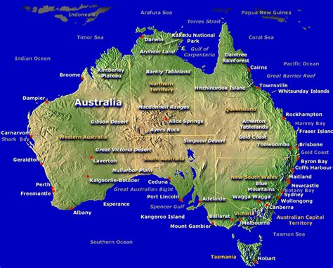 map austraila australia tourism australia tourist attractions map of