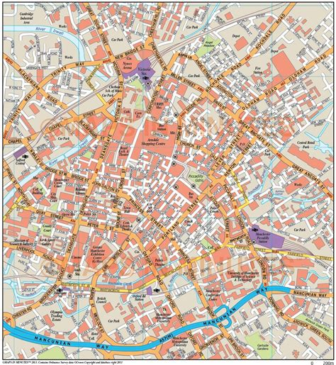 map uk manchester royalty free manchester illustrator vector format city map