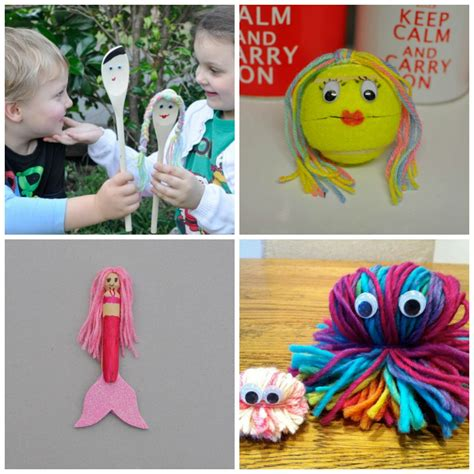 to make with children lots of lovely things for to make with wool be a