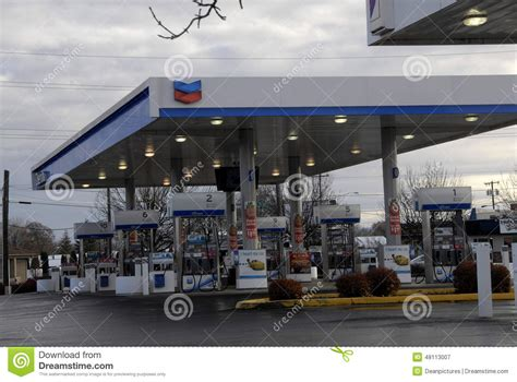 chevron gas station editorial photography image 48113007