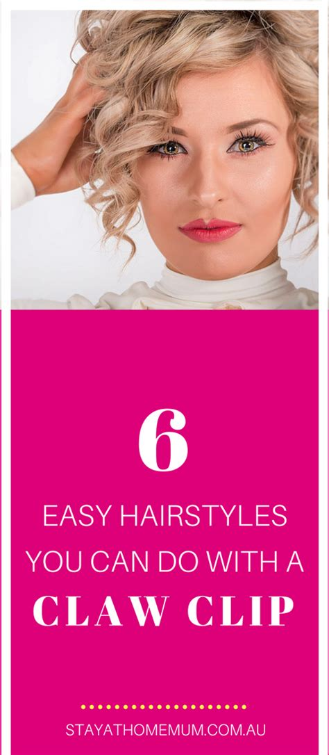 Easy Hairstyles You Can Do With One Hand | 6 easy hairstyles you can do with a claw clip