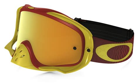 motocross goggles tinted oakley new crowbar mx shockwave red yellow gold 24k tinted