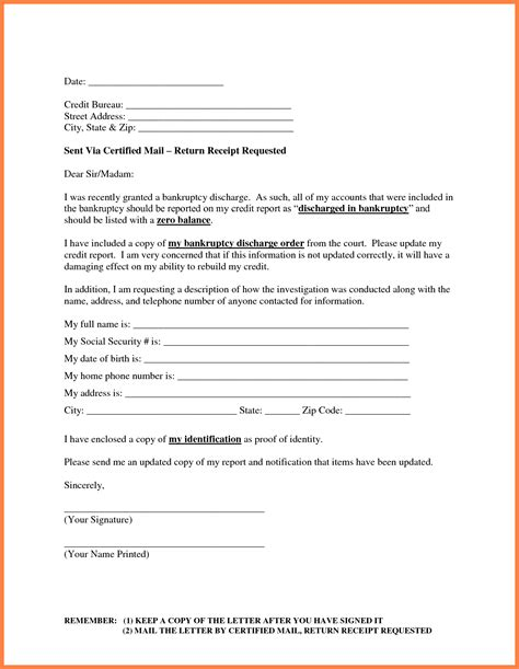 letter to creditors template 28 images 25 best ideas