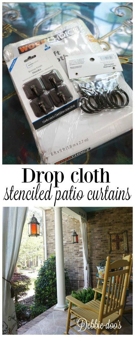 no sew drop cloth patio curtains how to make drop cloth curtains for the porch or patio debbiedoos