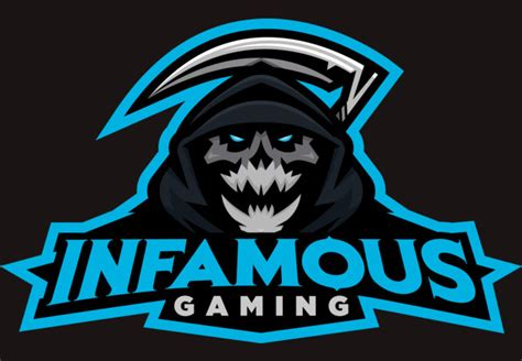 design by humans gaming infamous gaming full logo t shirt by infamousgamingclan