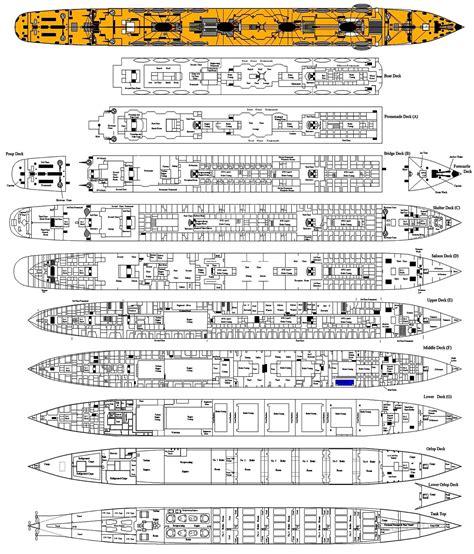 titanic floor plans rms titanic page three deck plan