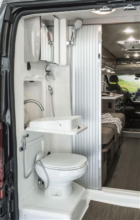 travato interior bedroom  bathroom winnebago rvs