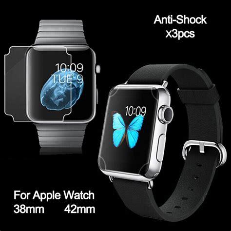 Indoscreen Apple 38mm Anti Anti Shock tpu premium anti shock screen protector for apple 42mm screen coverage clear screen