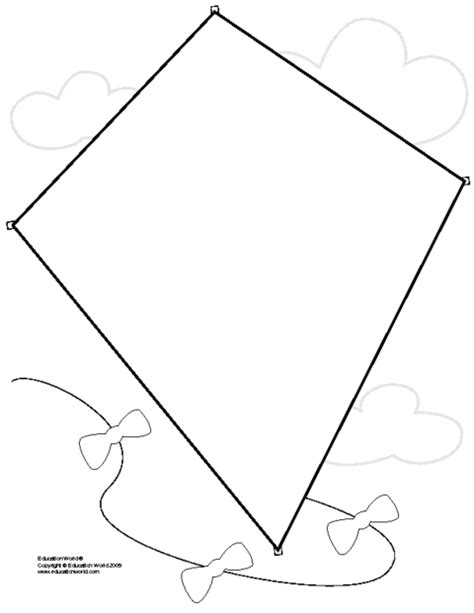 printable paper kites printable diamond template coloring home
