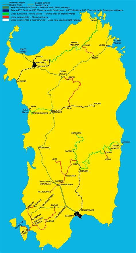 printable road map of sardinia sardinia map map of sardinia with cities and towns map