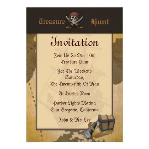 Treasure Hunt Cards Template by 20 Best Treasure Map Invitation Template Images On